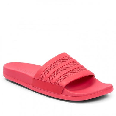 Women's Adilette Cloudfoam Plus Mono Stripes (Red / Active Pink)