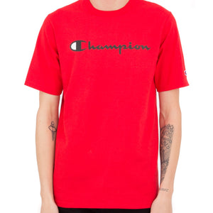 PRE- ORDER: Champion Heritage Script Tee (Red)(Jan 26 to Feb 2 arrival)(NO CASH ON DELIVERY)