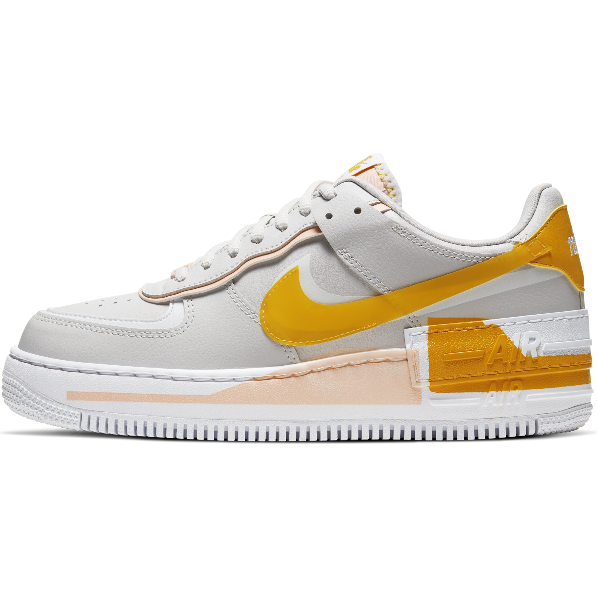 Women S Nike Air Force 1 Shadow Se Vast Grey Pollen Rise Washed Coral Trilogy Merch Ph This iteration comes in a vast grey colourway with retro orange accents. women s nike air force 1 shadow se vast grey pollen rise washed coral cq9503 001