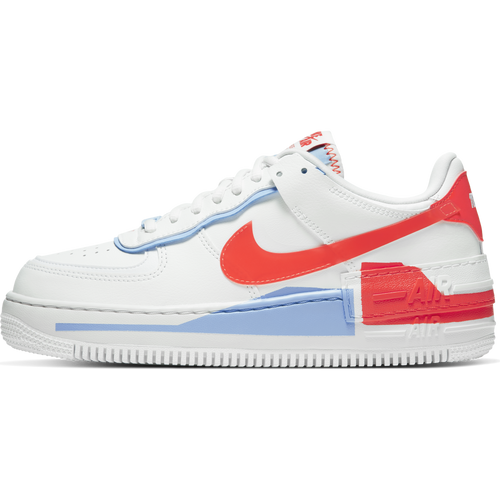 Women's Nike Air Force 1 Shadow SE (White Summit/Team Orange)(CQ9503-100)