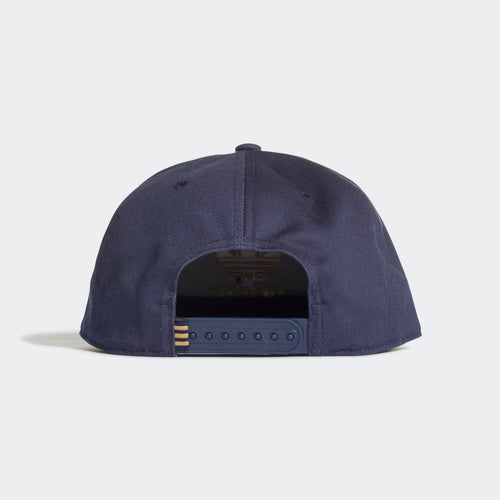 ADIDAS Trefoil Snap-back Cap (Collegiate Navy Raw Sand)