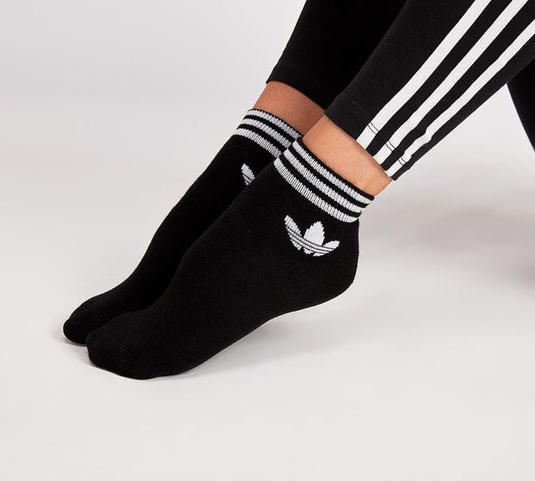 hot new products clearance sale professional sale Adidas Originals Trefoil Ankle Socks (Black)(1 PAIR ONLY)