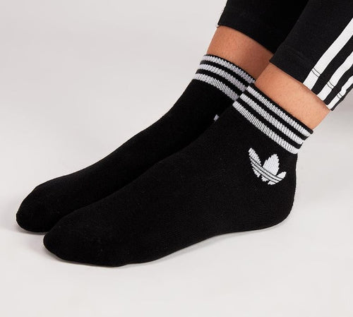 Adidas Originals Trefoil Ankle Socks (Black)(1 PAIR ONLY)