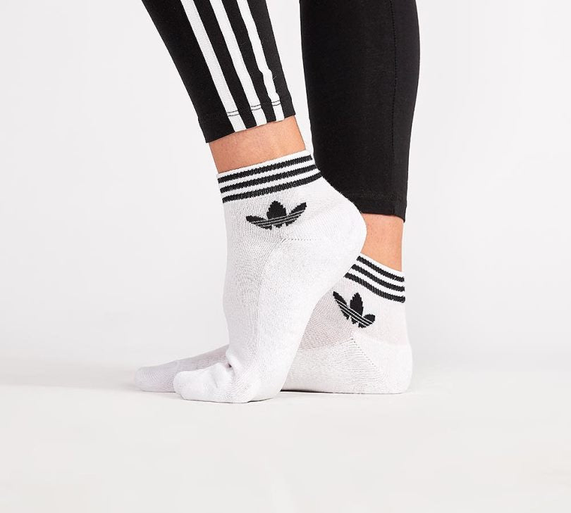 famous brand delicate colors affordable price Adidas Originals Trefoil Ankle Socks (White)(1 PAIR ONLY)