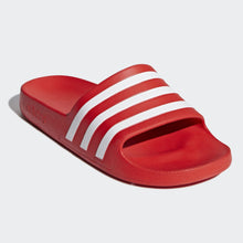 Adidas Adilette Aqua Stripe Slides (Active Red)(F35540)