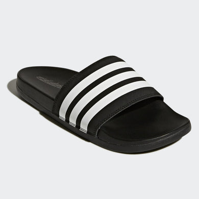 Adidas Adilette Cloudfoam Comfort Slides Stripe (Core Black/Cloud White)(AP9966)