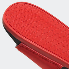 "Adidas Adilette Cloudfoam 3 Stripe Logo ""BREDS"" (Active Red/Black/White)(F34722)"