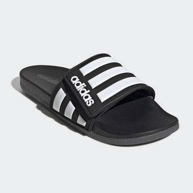 Adidas Adilette Cloud Foam Comfort Adjustable Strap (Core Black/Cloud White/Grey Six)(EG1344)