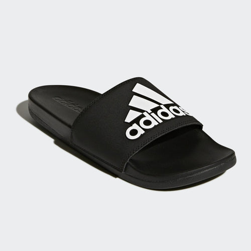 Adidas Adilette Cloudfoam Comfort Slides 3 Stripe Logo (Core Black/Cloud White)(CG3425)