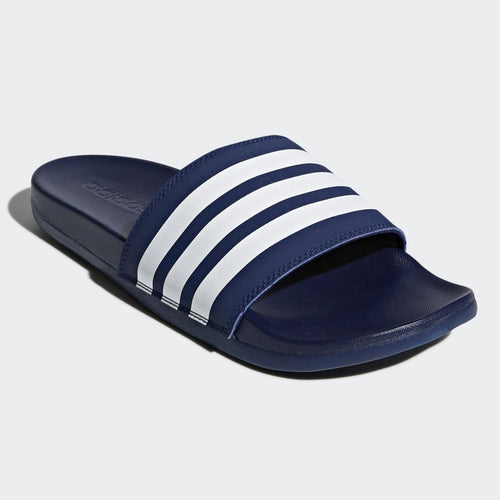 Adidas Adilette Cloudfoam Comfort Slides Stripe (Dark Blue/Cloud White)(B42114)