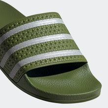 Adidas Adilette Classic Stripe Slides (Tech Olive/Cloud White)(EE6183)