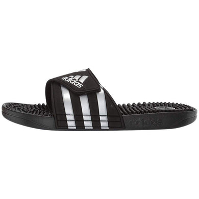 Adidas Adissage Slides (Black & Silver)