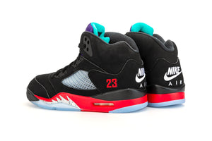 "Men's Air Jordan 5 Retro ""Top 3"" (Black/New Emerald-Fire Red)(CZ1786-001)"