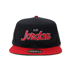 Air Jordan Pro Script Snapback Cap (Black Red)(AV8448-010)