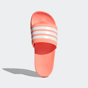 Women's Adilette Cloudfoam Plus Stripes (Chalk Coral)