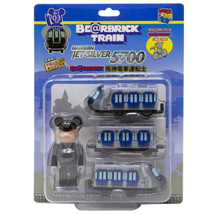 BE@RBRICK Train Hanshin Jet Silver 5700 (100%)