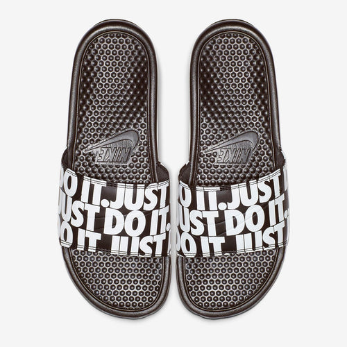 Men's Nike Benassi Just Do It Repeat (Black White)(631261-024)