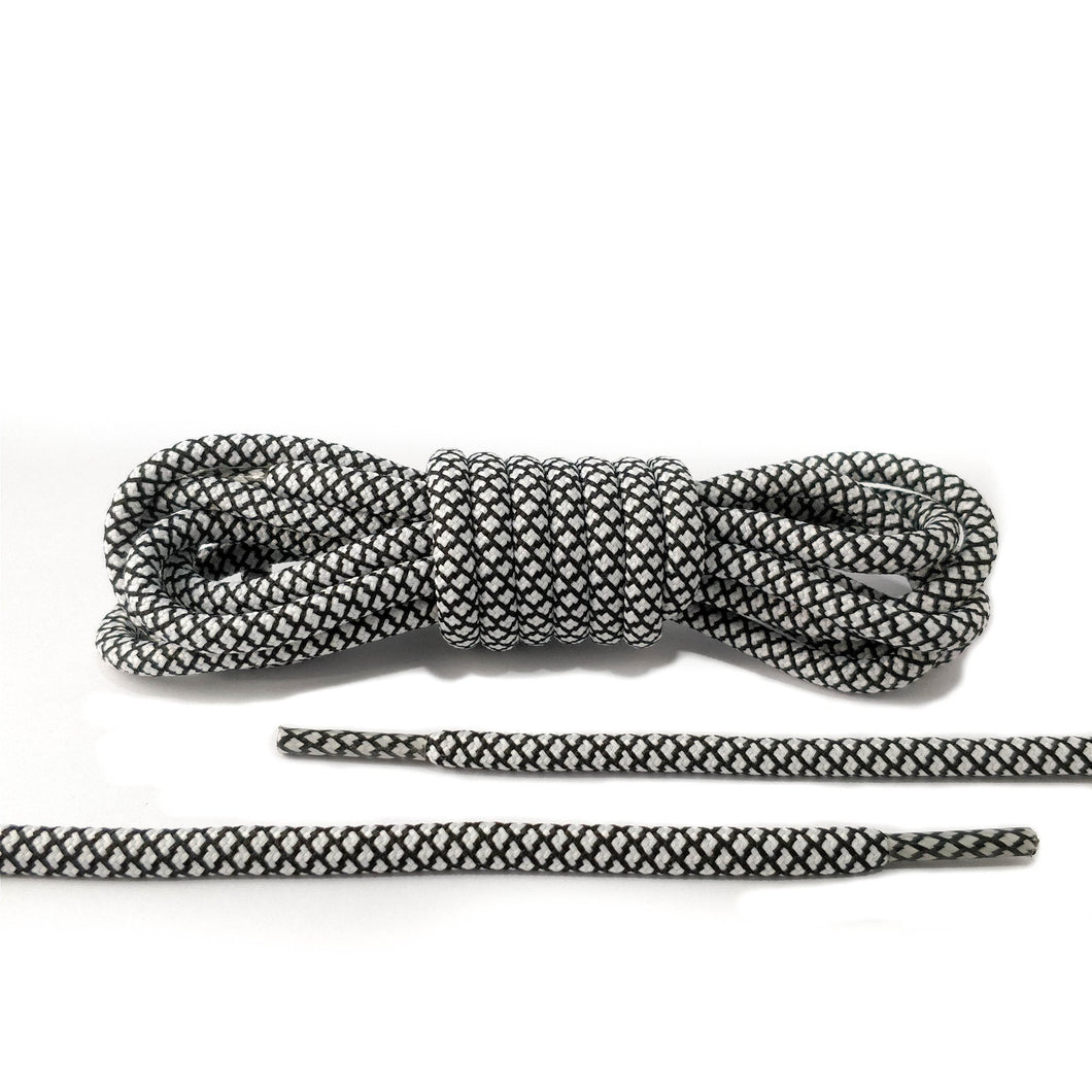 Black and White Rope Laces
