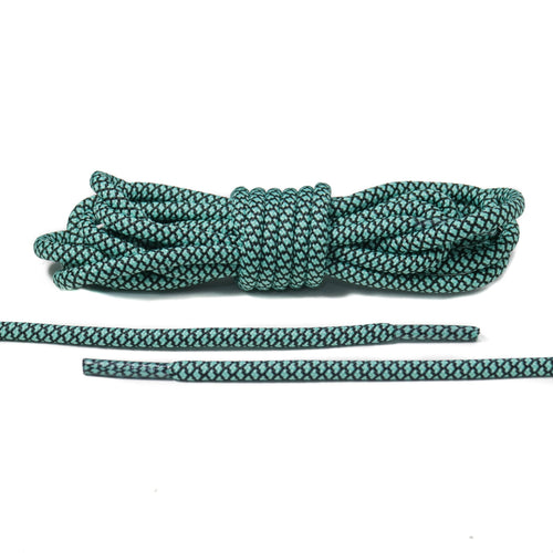 Black and Mint Rope Laces