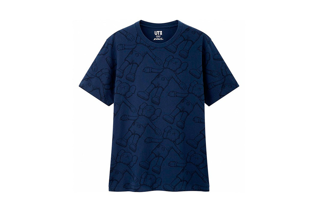 KAWS x Uniqlo All Over Holiday Tee (Navy)