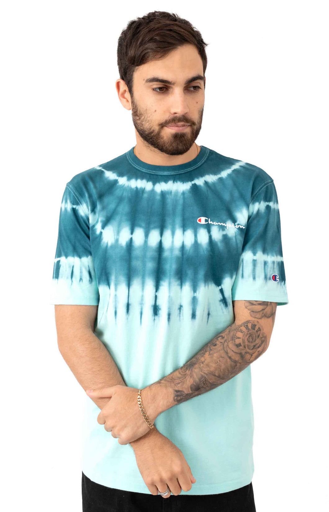 Champion Heritage Streak Dye Tee (Waterfall Green)