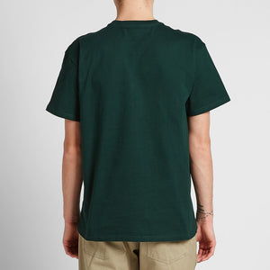Carhartt WIP Chase Embroidered Tee (Bottle Green & Gold)(Regular Size)