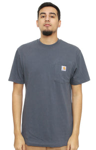 Carhartt K87 Workwear Pocket T-Shirt (Blue Stone)(Oversized fit)