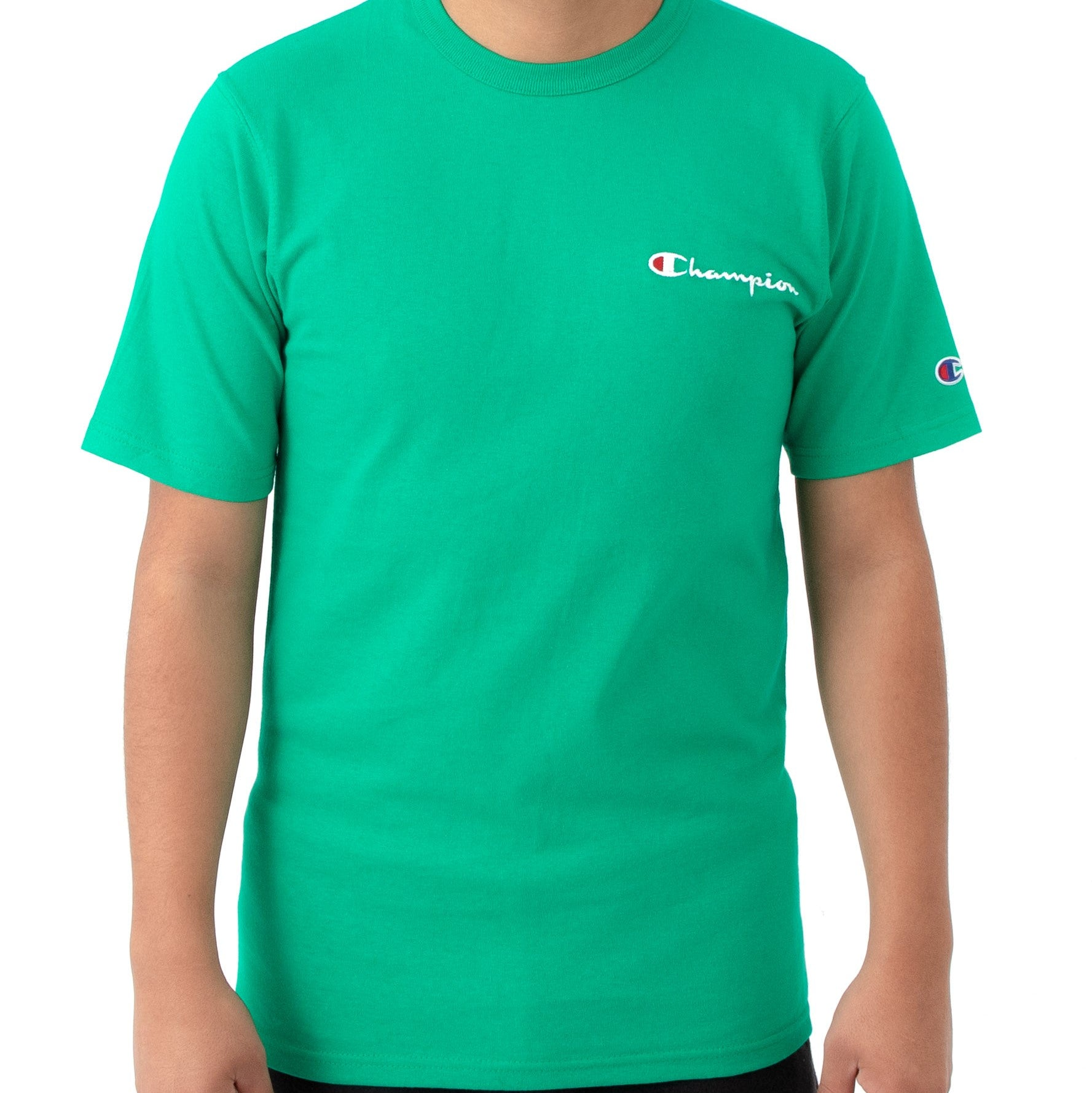 3d187f46 Champion Embroidered Heritage Small Script Tee (Kelly Green)(onhand) ...
