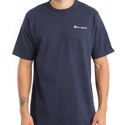 Champion Embroidered Heritage Small Script Tee (Navy)(onhand)