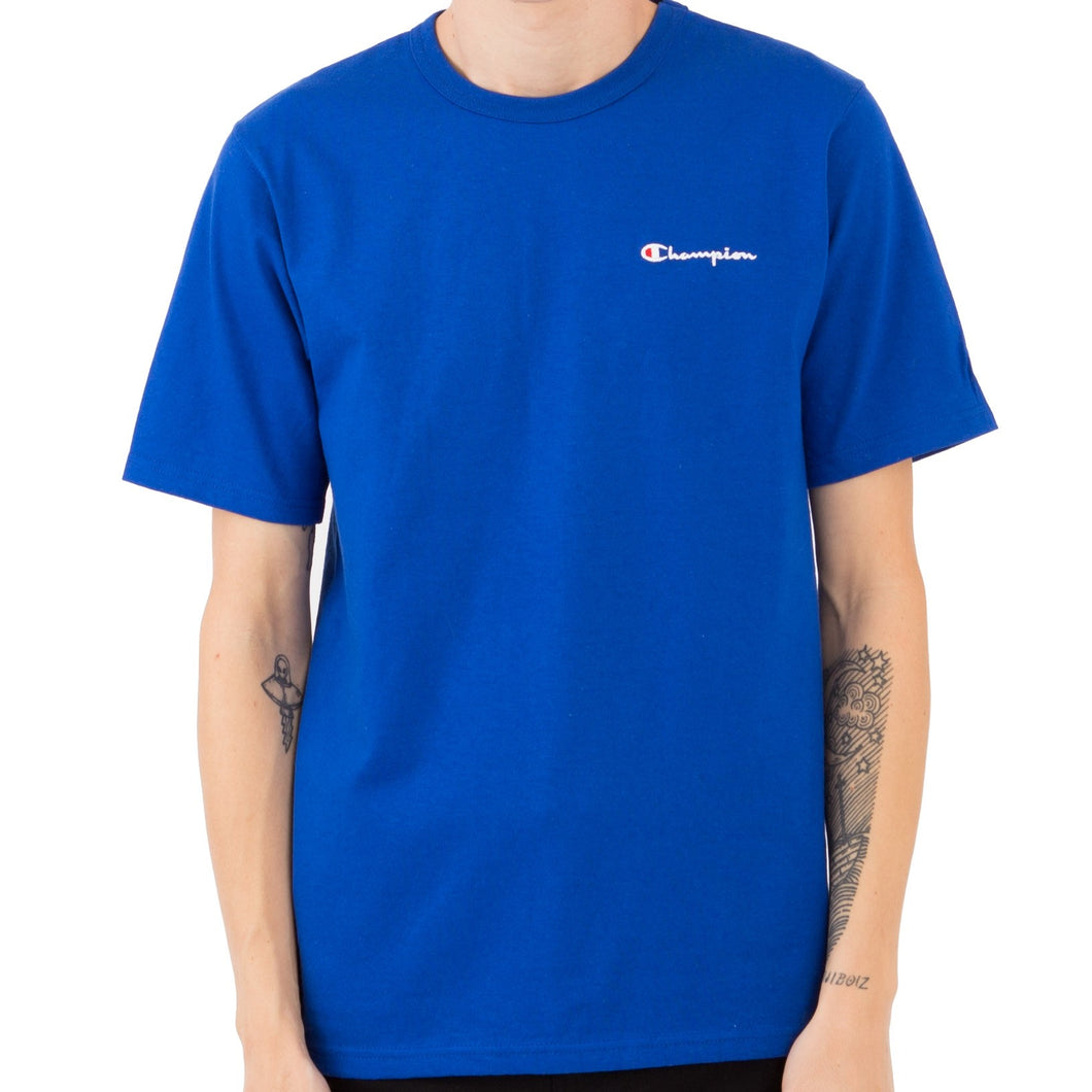Champion Embroidered Heritage Small Script Tee (Royal Blue)(onhand)