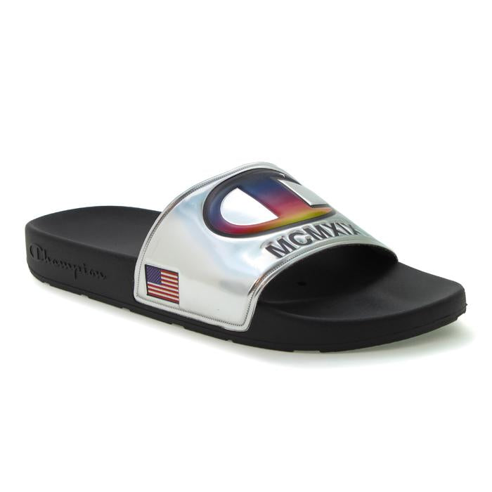 Champion Metallic IPO Slides (Silver)(onhand)