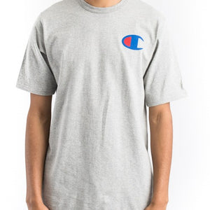 Champion Small C logo Print Heritage Tee (Oxford Grey)(onhand)