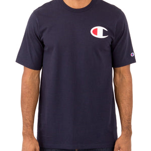 Champion Small C logo Print Heritage Tee (Navy)(onhand)