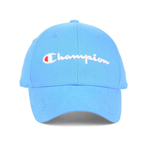 Champion Classic Twill Hat Leather Strap back (Active Blue)
