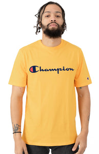 0b9f556e Champion Embroidered Big Script Heritage Tee (C. Gold)(onhand)