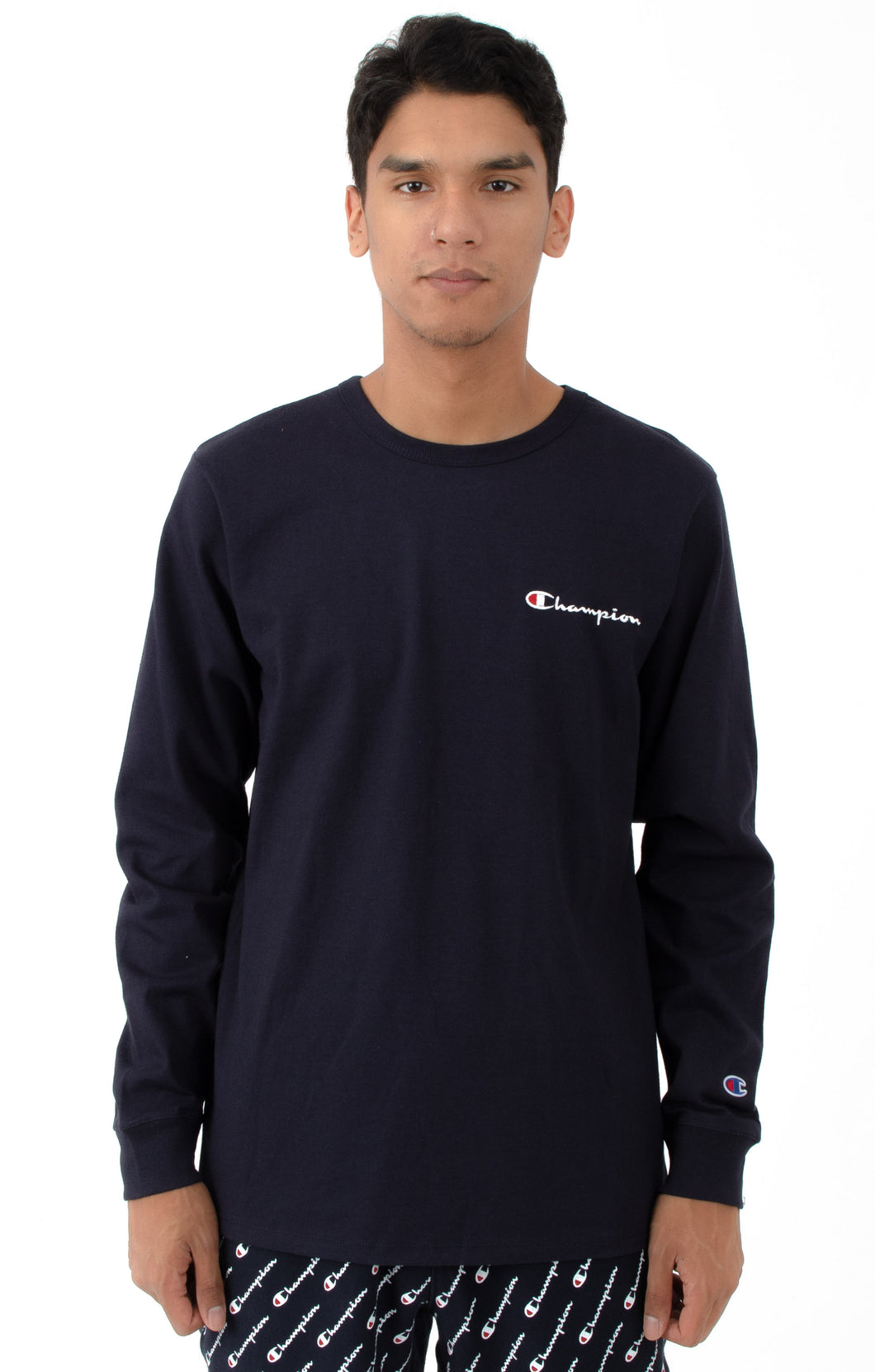 Champion Embroidered Small Script Heritage Longsleeves (Navy)(onhand)