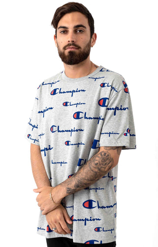 Champion All Over Multi Scale Script Tee (Grey)