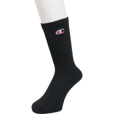 Champion Crew Socks High (Black)(1 PAIR)
