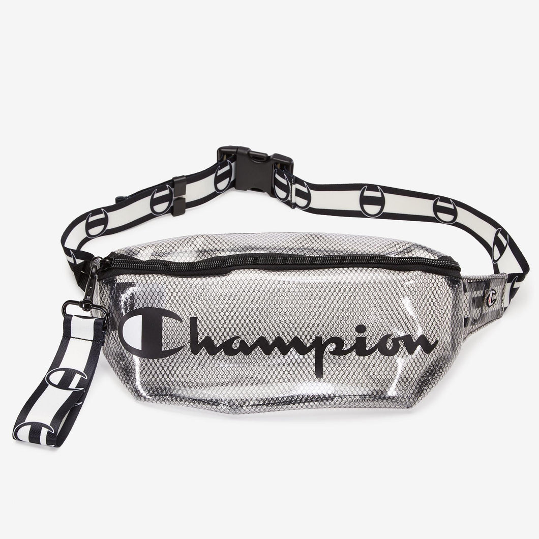 Champion Transparent Waist Bag Fanny Pack (Black)