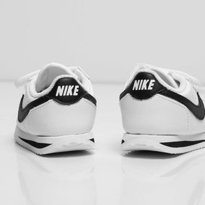 Nike Cortez Basic SL Baby & Toddler Shoe (White Black)