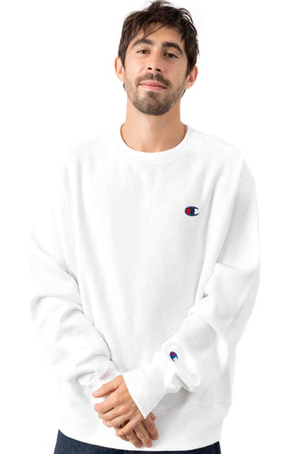 (PRE ORDER) Champion Reverse Weave Crewneck Classic Small Logo (White)(NO CASH ON DELIVERY - ALL ORDERS MUST BE PAID FULL IN ADVANCE)