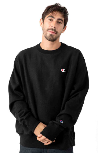 (PRE ORDER) Champion Reverse Weave Crewneck Classic Small Logo (Black)(NO CASH ON DELIVERY - ALL ORDERS MUST BE PAID FULL IN ADVANCE)