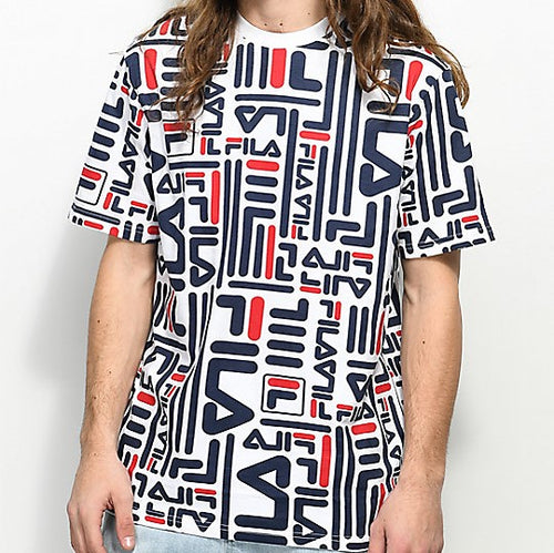 FILA Charlie All-over Print Tee (White)(onhand)