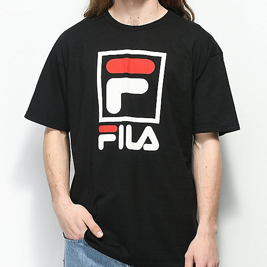 FILA Stacked Tee (Black)(onhand)