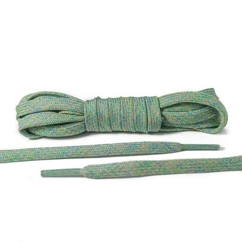 Green Multicolor Flat Laces