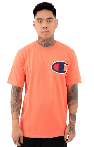 Champion Large Logo Heritage Tee (Groovy Papaya)