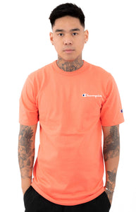Champion Embroidered Heritage Small Script Tee (Groovy Papaya)