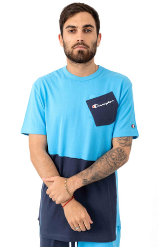 Champion Heritage Shift Pocket Tee (Active Blue)