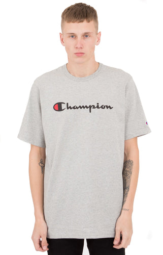 (PRE ORDER) Champion Heritage Script Tee (Oxford Grey)(NO CASH ON DELIVERY - ALL ORDERS MUST BE PAID FULL IN ADVANCE)