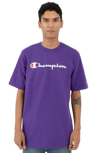 (PRE ORDER) Champion Heritage Script Tee (Purple)(NO CASH ON DELIVERY - ALL ORDERS MUST BE PAID FULL IN ADVANCE)